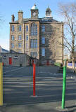 View of Leith Primary School from Duncan Place, Leith Links  -  October 2007