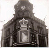Leith Provident Co-operative Society  -  decorated for the Coronation of Queen Elizabeth II, 1953