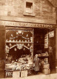 Photo of shop No 105.  Is this in a street in Leith?  Which street and when?