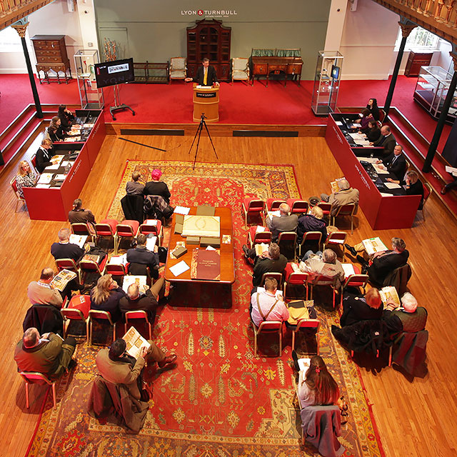Lyon & Turnbull Auction Rooms, Broughton Place Church  -  Auction Day