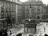 Photograph by Norward Inglis  -  Proclamation at the Market Cross, High Street, Edinburgh