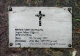 Mount Alvernia Convent - Plaque to Mother Mary Bernadine