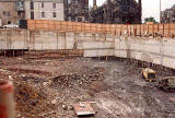 Excavations for Museum of Scotland  -  Photograph taken 1990s