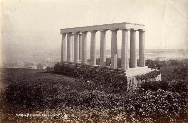 Albumen Print of the National Monument on Calton Hill  -  by AA Inglis