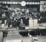 Workers at Nelson's Printers, around 1962