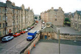 Looking to the SW along Watson Crescent.  North Merchiston Primary School is on the extreme right of this photo