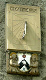 Sundial on the wall of Pilrig House  -  Photograph, June 2006