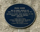 Plaque on the wall of Pilrig House  -  Photograph, June 2006