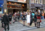The audience gathers before the performance of the Rocky Horror Show at Playhouse Theatre  -  October 27, 2006