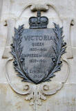 Detail on the base of the Statue to Queen Victoria at the Foot of Leith Walk
