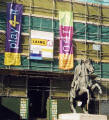 The statue of the Duke of Wellington in front of Register House  -  Photographed September 2002