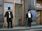 On the steps of the Royal  Museum, Chamber Street, Edinburgh  -  2008