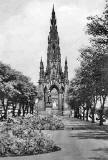 The Scott Monument from Princes Street Gardens  -  summer 1950