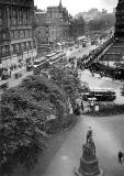 Looking east along Princes Street from the Scott Monument - 1936