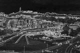 View from the Radical Road  -  Scottish Parliament  -  Official Opening  -  Sketch  -  night effect