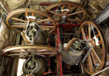 Looking down on the Bells and Bell Wheels in the tower of St Andrew's and St George's West Church, George Street, Edinburgh