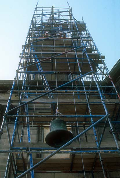 St Andrew's & St George's Church  -  September 2003  -  Removing the Bells - 8