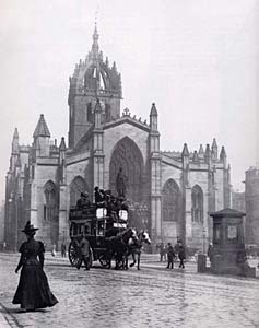 St Giles Cathedral - Edinburgh Bigh Street  -  Photograph probably by JCH Balmain
