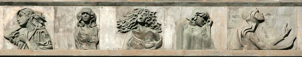 Standard Life Investments Head Office  -  1 George Street  - Sculpture in Bronze Relief  -  Foolish Virgins