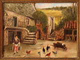 Upper Spylaw Mill  -  Painting by Dodds  -  Hens in the yard