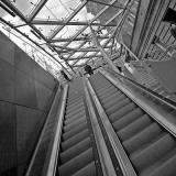 Newly installed escalators at Waverley Steps, leading from Edinburgh Waverley Station to Princes Street  -  2012