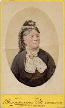Carte de visite of a Lady, hand coloured  -  by Brown, Barnes & Bell