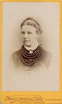 Carte de visite of a Lady with Necklaces  -  by Brown, Barnes & Bell