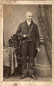 Carte de Visite of the line-engraver, William Miller  -  taken by the Edinburgh photographer, James Good Tunny