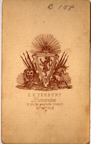 Yerbury  -  Carte de Visite  -  1  -  Back