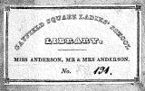 Bookplate from the Library of Gayfield Square Ladies School