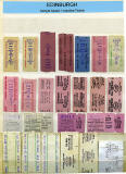 A selection of Edinburgh Setright + Autofare Bus Tickets  -  1950s to 1990s