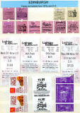 A Selection of Edinburgh Bus Tickets with adverts on the backs of some of these tickets  -  1970s to 2012