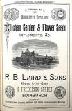 RB Laird & Sons Seed Catalogue, 1871  -  with illustration of Royal Winter Garden Glasshouses, Haymarkey