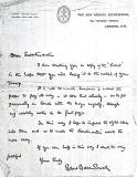 Letter from Baden-Powell to William Tyrell, Leith
