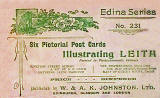 An envelope that originally contained six Picture Post Cards of Leith - W & A K Johnston's Edina Series 231