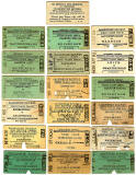 Old Railway Tickets  -  Caledonian Railway Stations