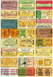 Old Railway Tickets  -  North British Railway Style