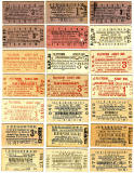 Old Railway Tickets  -  Platform Tickets