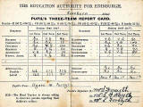 Roseburn School  -  1928-29  -  Report Card for Winnie Forsyth