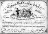Temperence Pledge, dated 1837