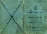 World War II  -  Travel Permit Card -  Cover