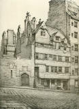 Old Houses in Edinburgh  -  Drawing by Bruce J Home  -  Somerville's Land