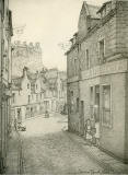 Old Houses in Edinburgh  -  Drawing by Bruce J Home  -  West Port