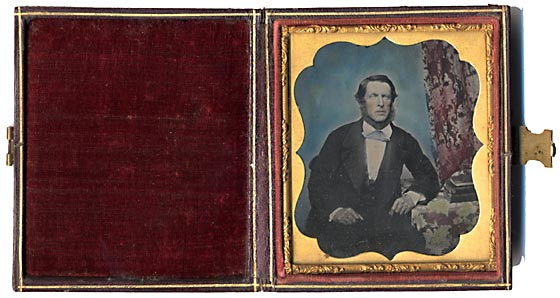 Ambrotype in Union Case - hand tinted