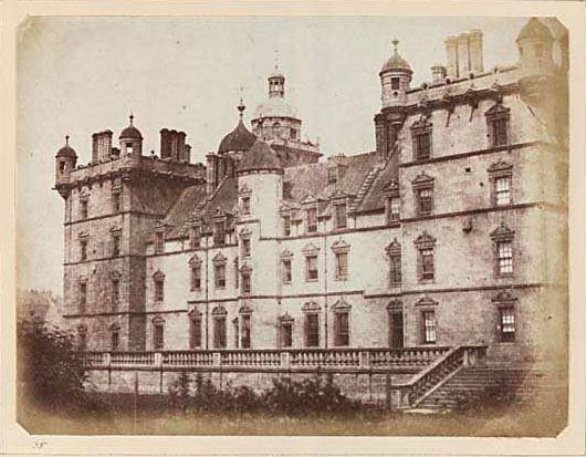 Photograph from Edinburgh Calotype Album  -  Volume 2, Page 26  -  George Heriot's Hospital