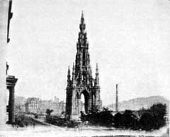 Scott Monument  -  from an Edinburgh Calotype Club Album
