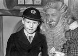 Bill Wilson, pupil at Wardie Primary School, photographed with Santa in 1954