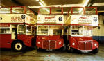 Three Routemasters at Seafield Works