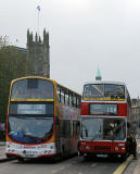 Route 3 and 17A  buses in Princes Street  -  November 2005