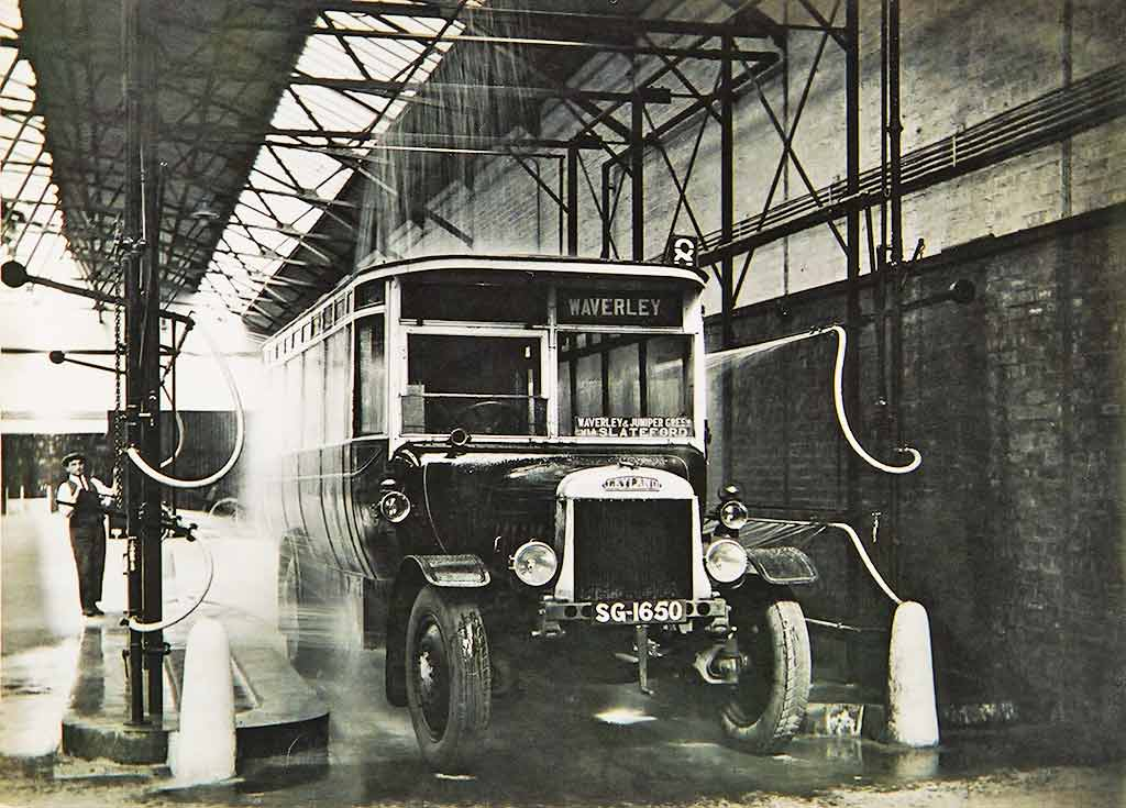 Annandale Street Depot -  Washing the bus